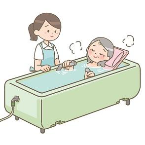 機械浴(ストレッチャー浴)
