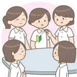 新人女性職員の歓迎
