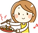 調理をする女性