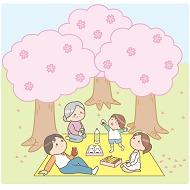 桜のお花見