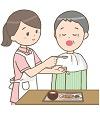 女性訪問介護員の食事介助