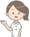 案内をする女性看護師