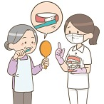 高齢者への歯磨き指導