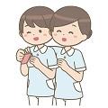 仲の良い介護士
