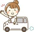 車を運転する介護職